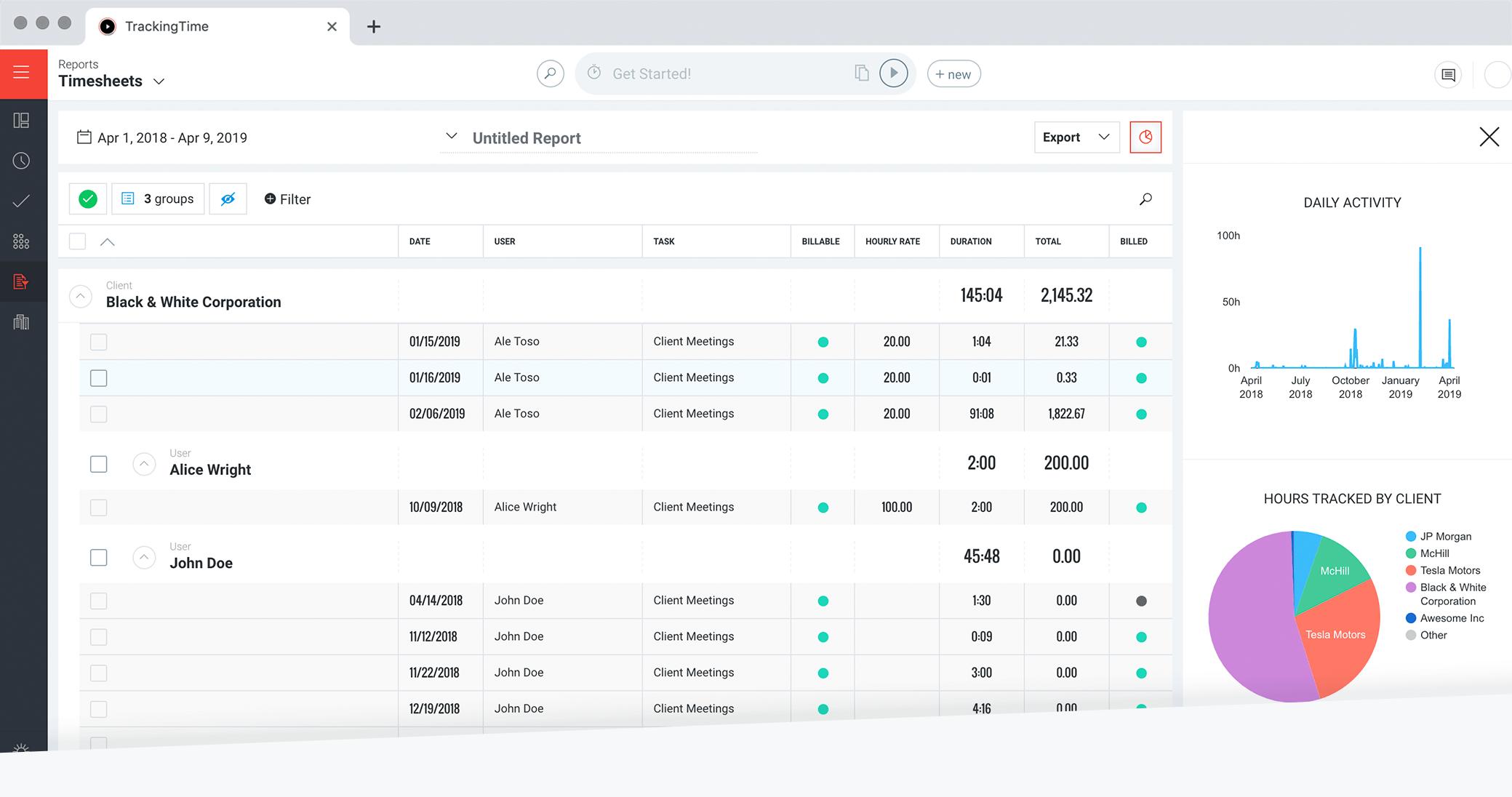 Gruppieren, filtern, sortieren und mehr
