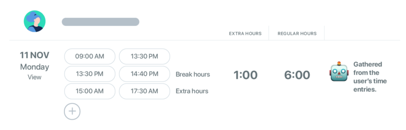 time tracker for reporting