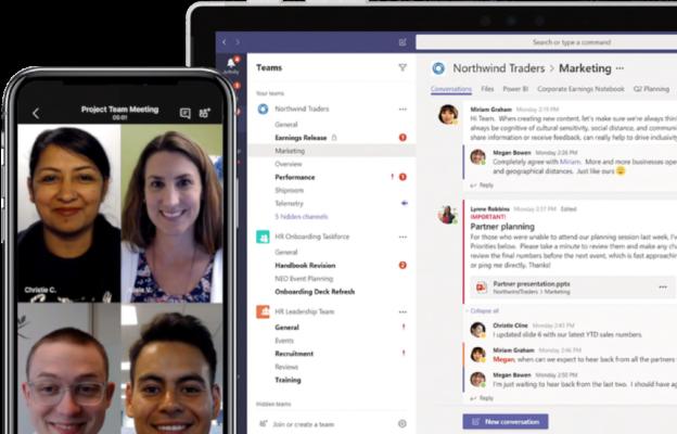 Microsoft teams improve productivity and collaboration