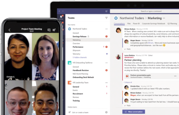 Microsoft teams improve productivity and collaboration