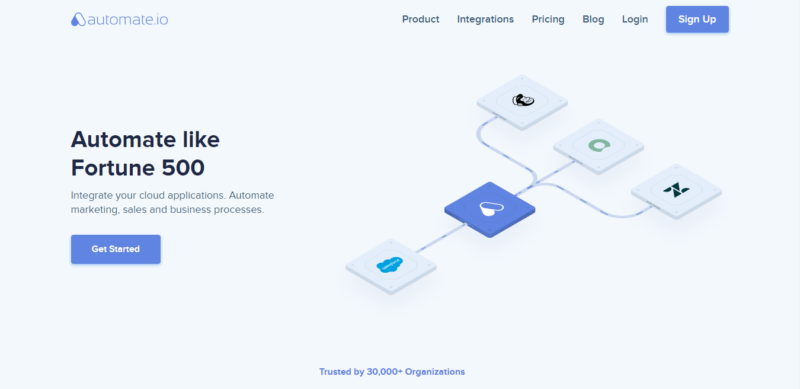 Automate.io - Marketing Automation Tools to Try in 2021